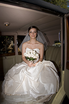 Wedding photograph - Bride in Limo